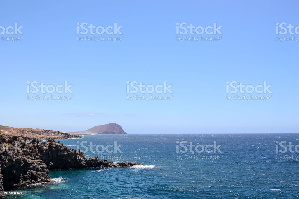 Dry Lava Coast Beach stock photo