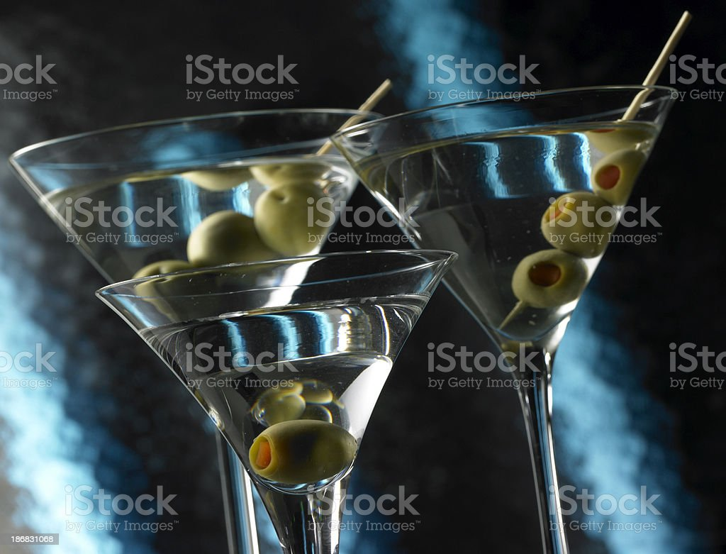 Dry Martinis royalty-free stock photo