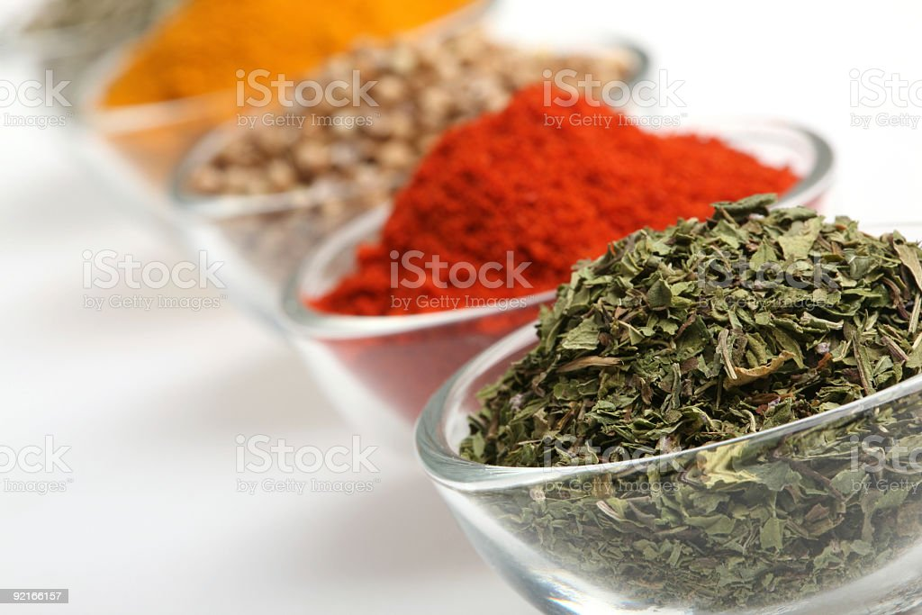 Dry Mint in a glass bowl royalty-free stock photo