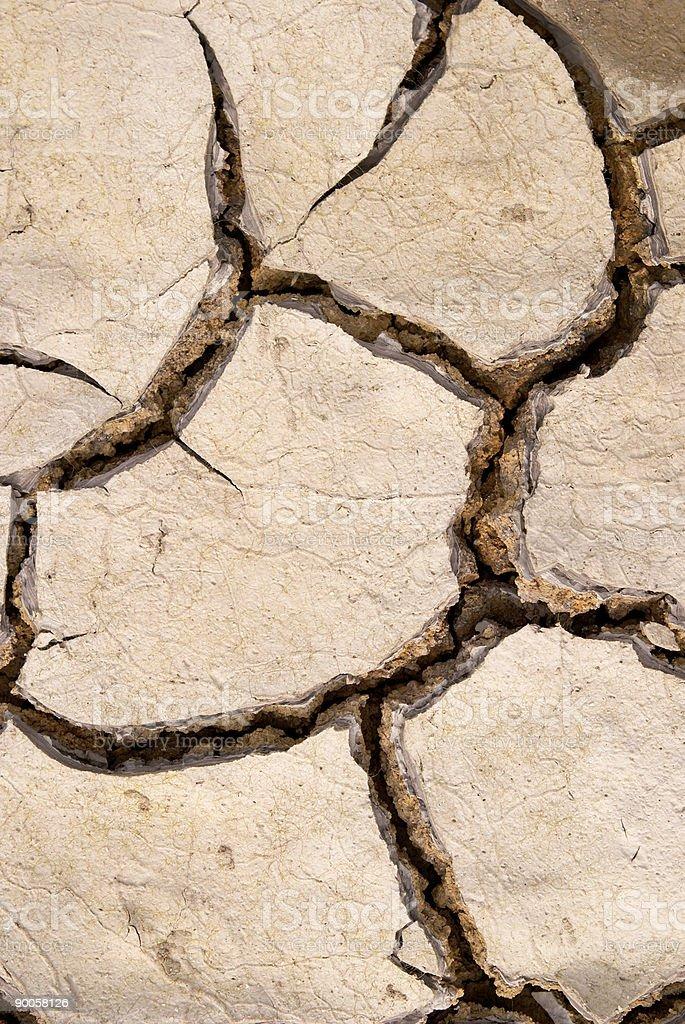 Dry mud cracks texture royalty-free stock photo