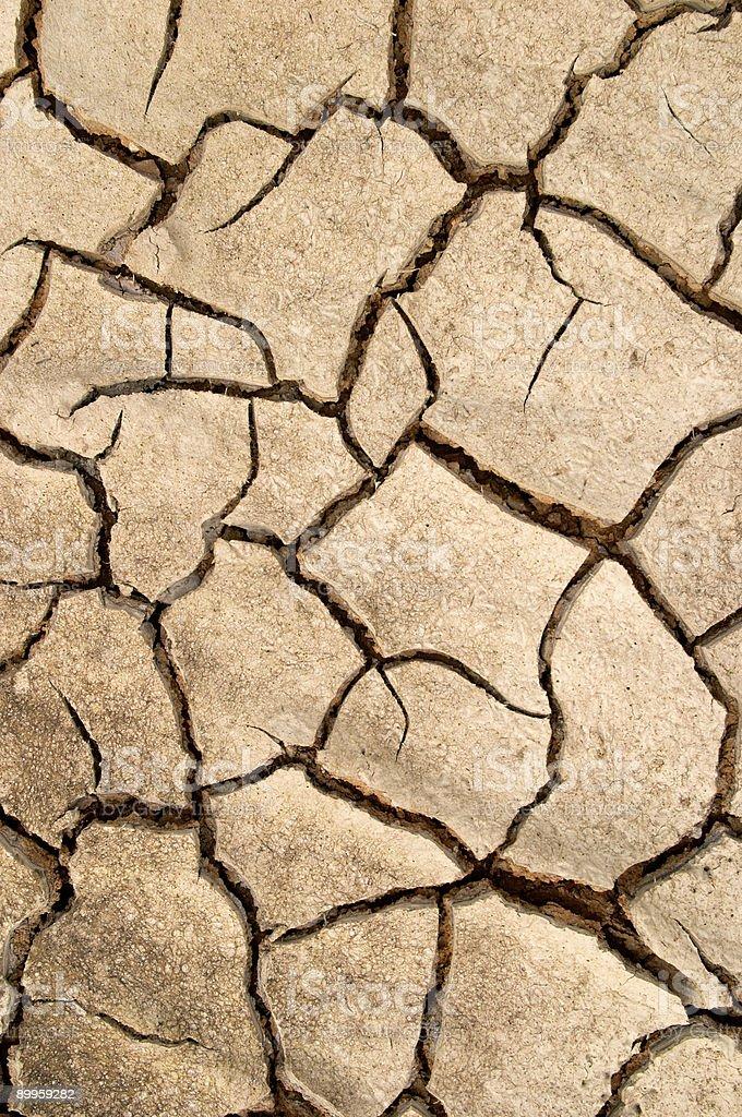 Dry mud cracks texture, Valtrebbia, Italy royalty-free stock photo