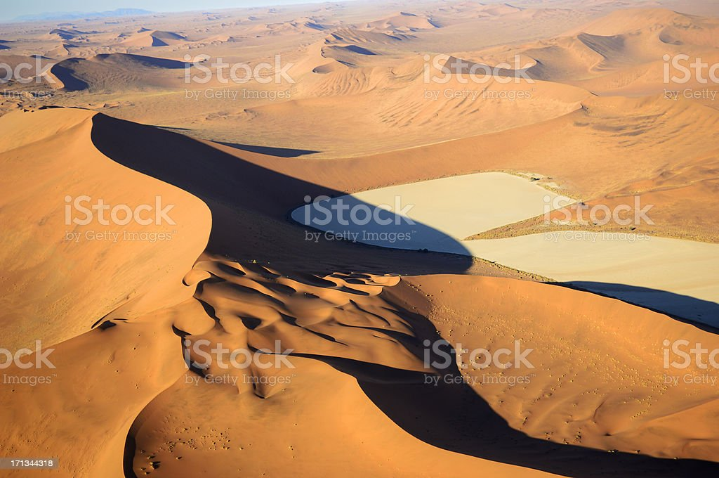 Dry Pan inmiddle from dunes stock photo