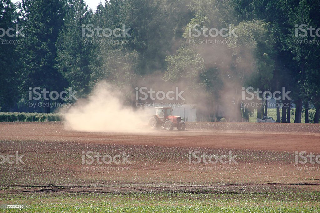 Dry, parched, Agricultural Land stock photo
