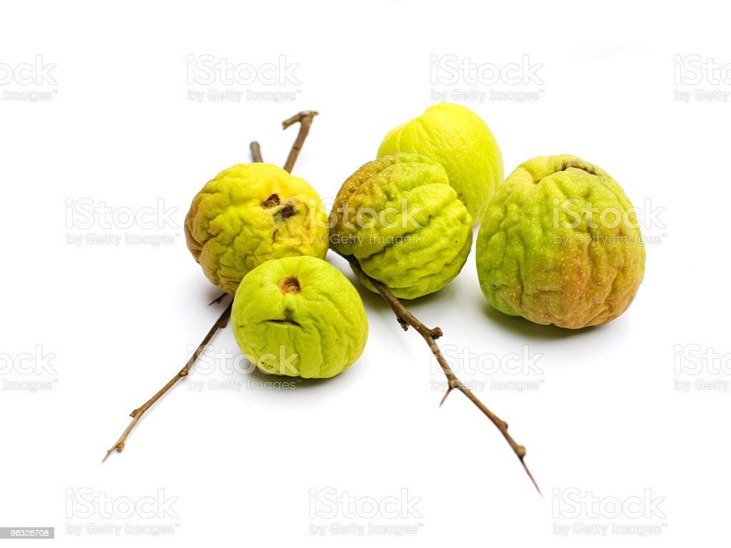 Dry Quinces, isolated stock photo