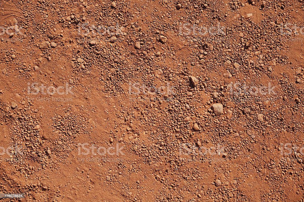 Dry red clay stock photo