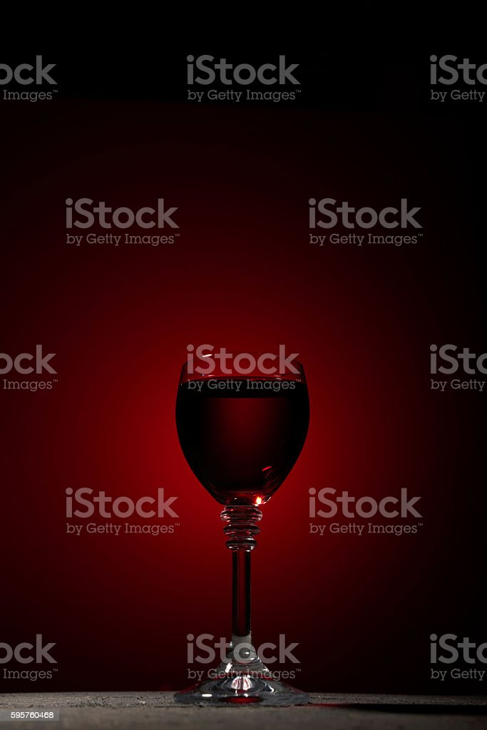 Dry red wine stock photo