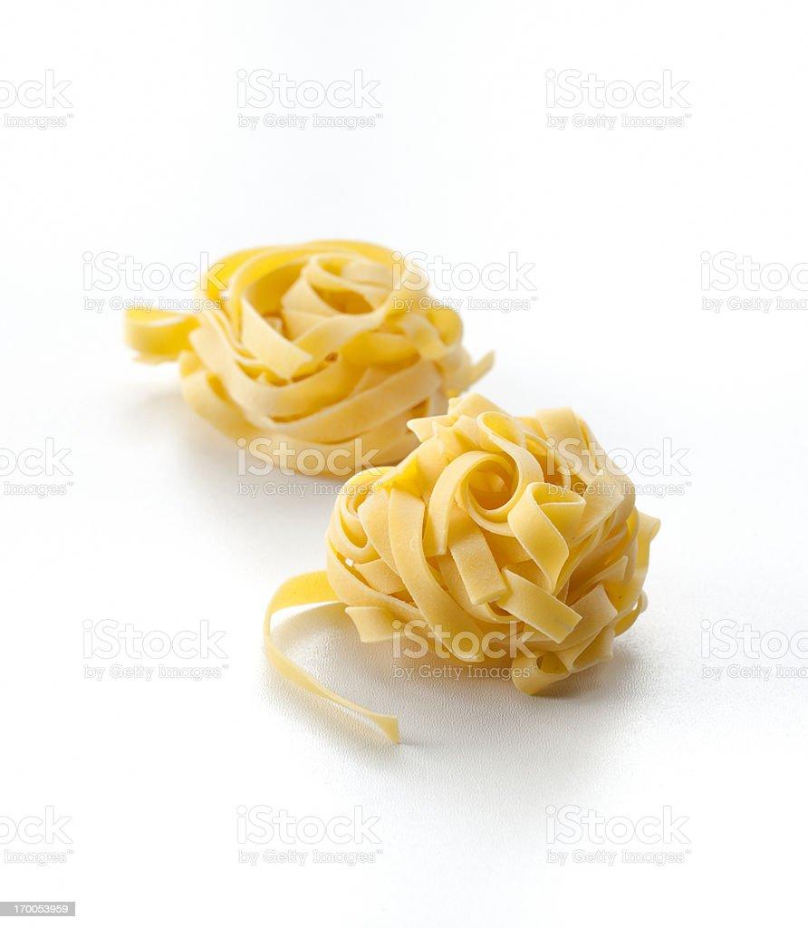 dry ribbon pasta royalty-free stock photo