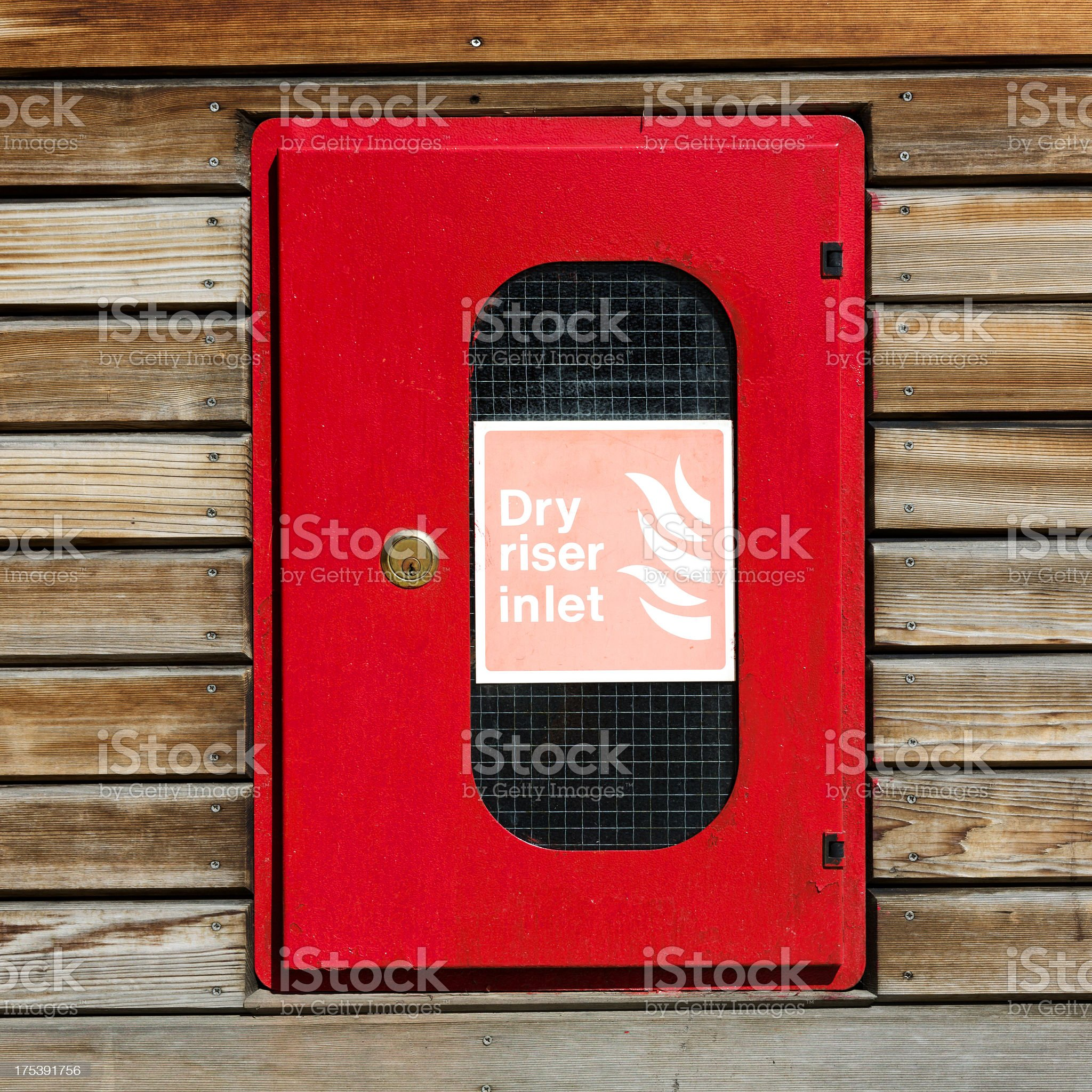 Dry riser inlet royalty-free stock photo