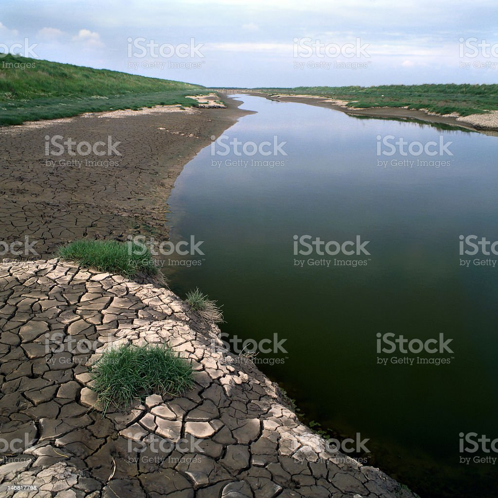 Dry river royalty-free stock photo