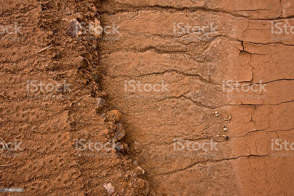 Dry Riverbed Background royalty-free stock photo