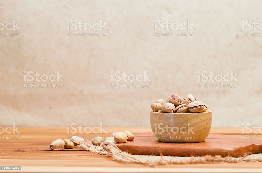 dry roasted pistachios seed stock photo