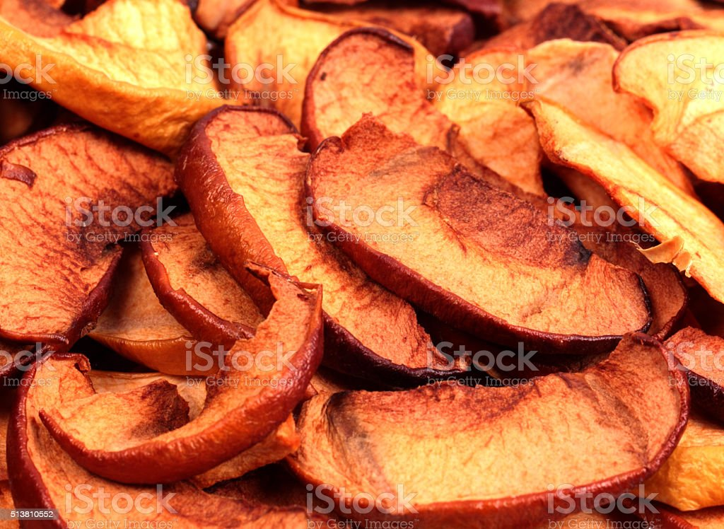 Dry slices of apple stock photo