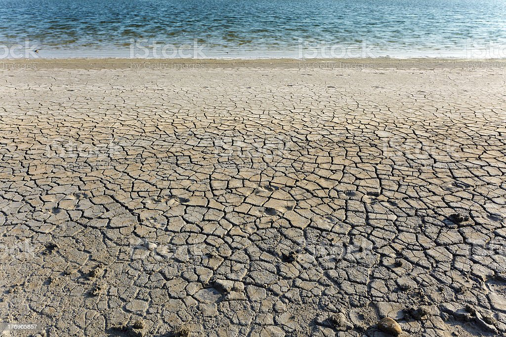 dry soil and water royalty-free stock photo