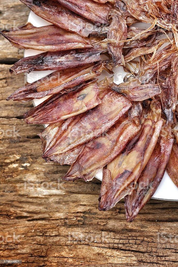 Dry squid royalty-free stock photo