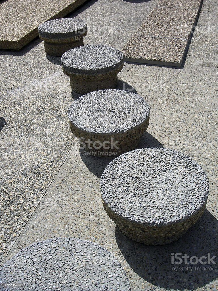 Dry Stepping Stones stock photo