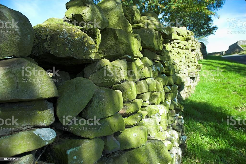 Dry Stone Wall 1 royalty-free stock photo