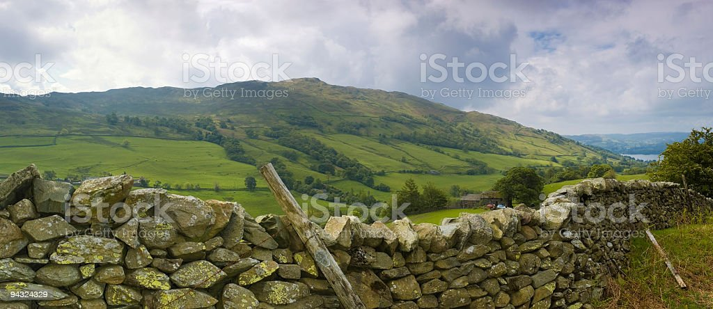 Dry stone wall, Lake District, UK royalty-free stock photo