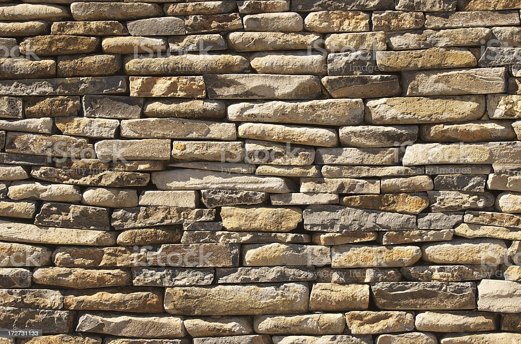 Dry Stone Wall royalty-free stock photo