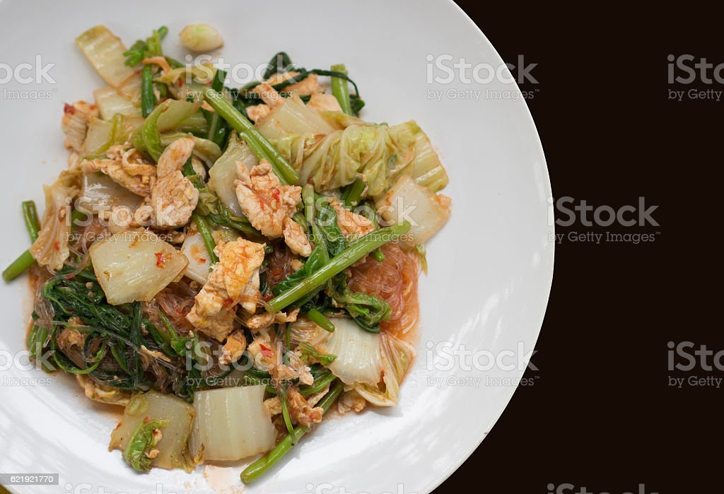 dry suki yaki thai food on dish stock photo