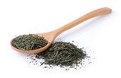 dry tea on white background