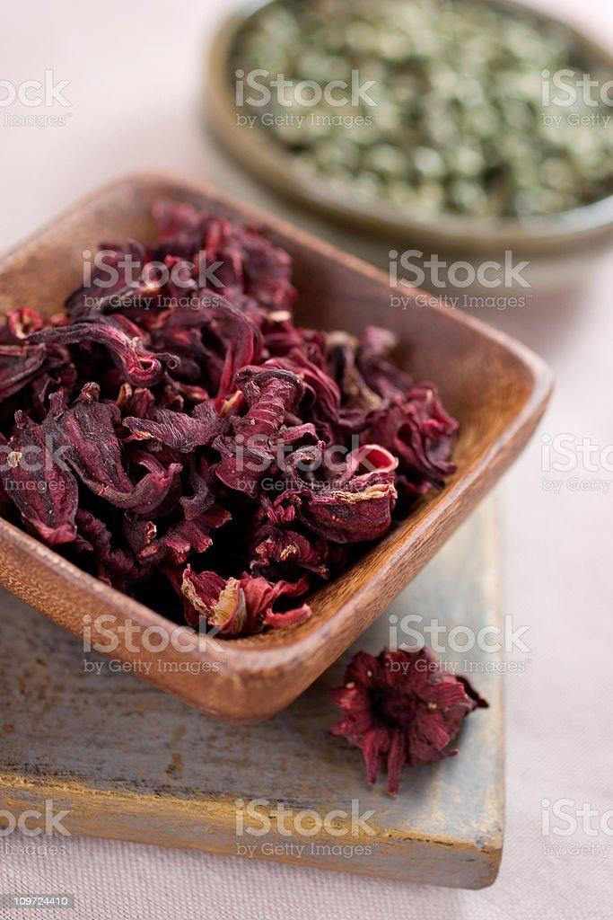 Dry Teas stock photo