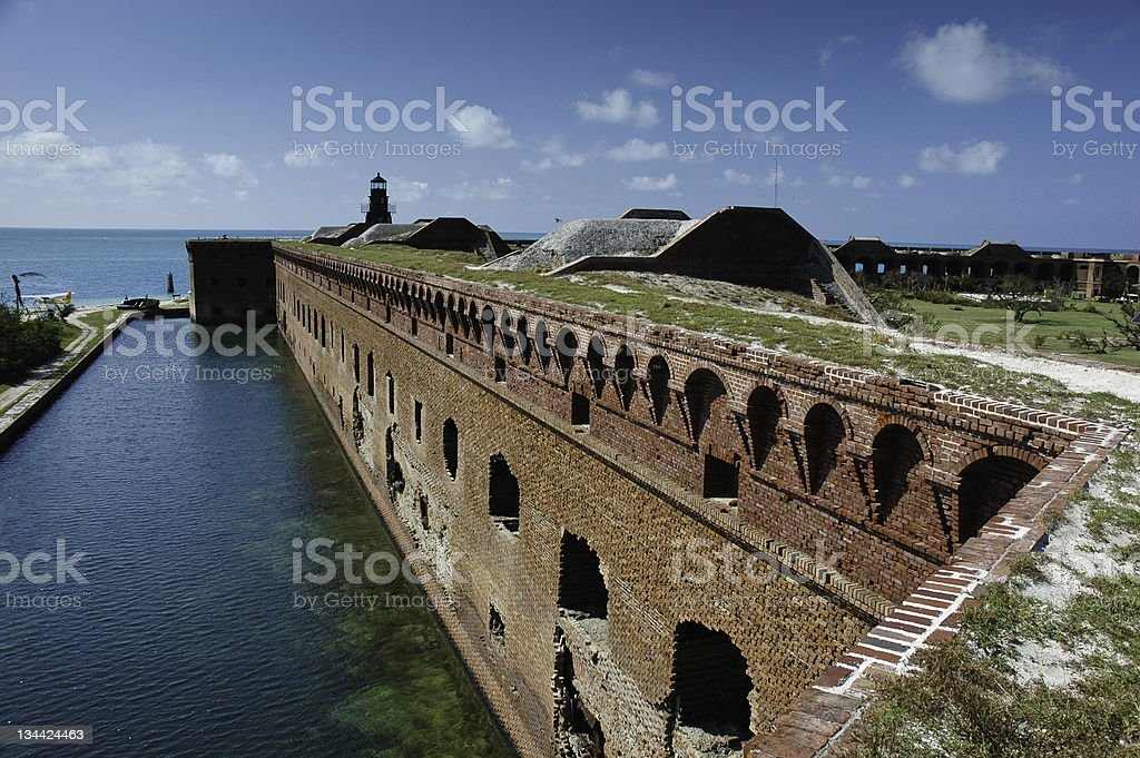 Dry Tortugas Fort Jefferson Florida Brick Wall stock photo