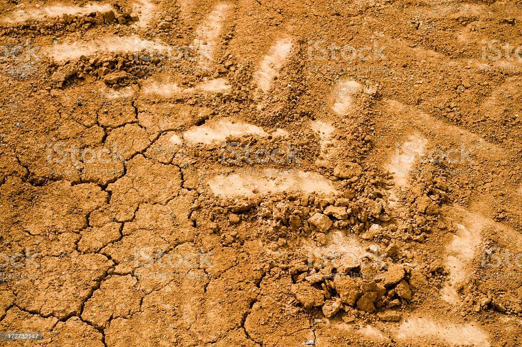 Dry Tracks royalty-free stock photo