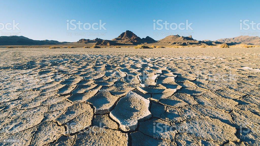 Dry Utah Lake Bed stock photo