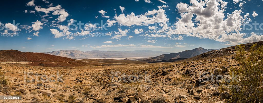 Dry view at Panamint Springs stock photo