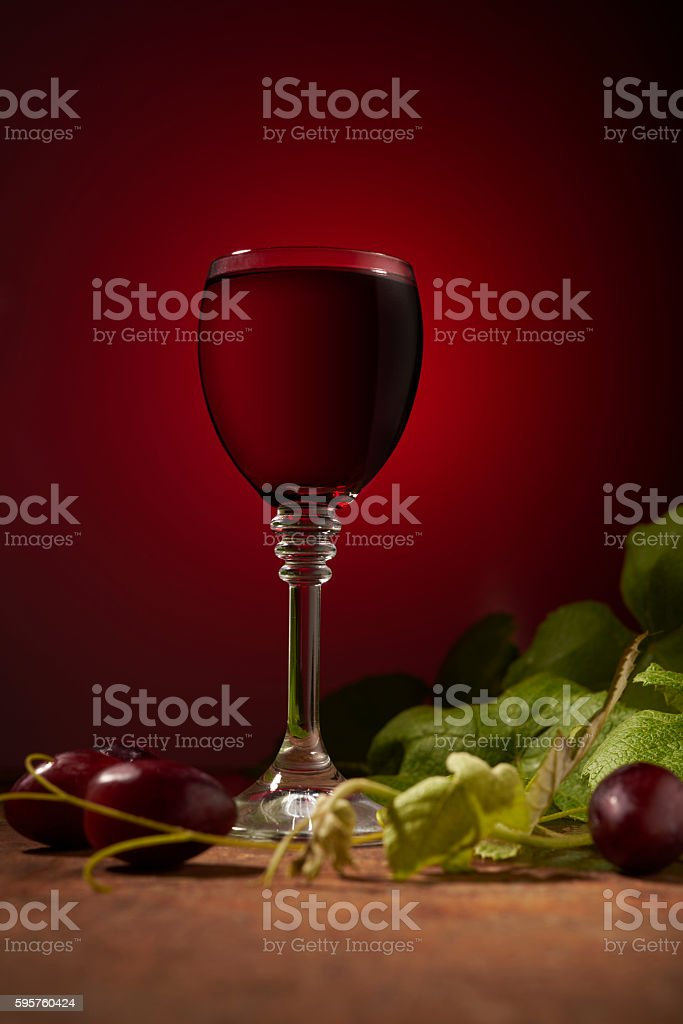 dry wine on the table stock photo
