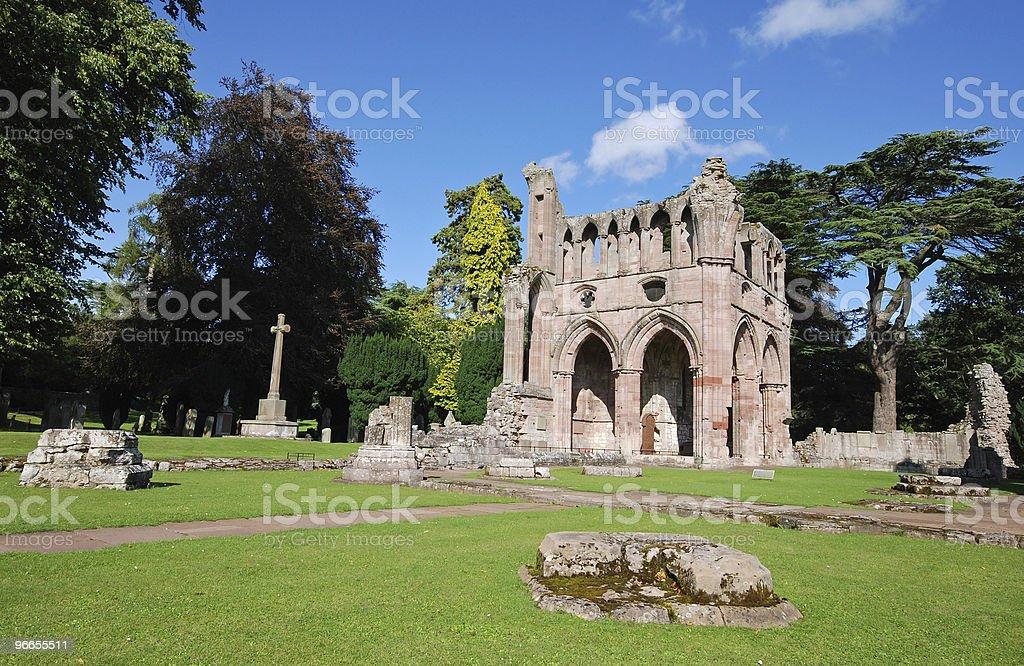 Dryburgh Abbey stock photo
