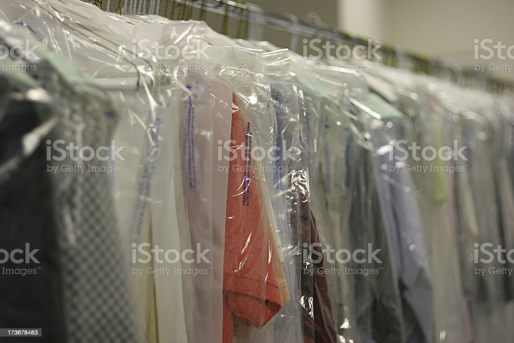 Drycleaned Clothing royalty-free stock photo