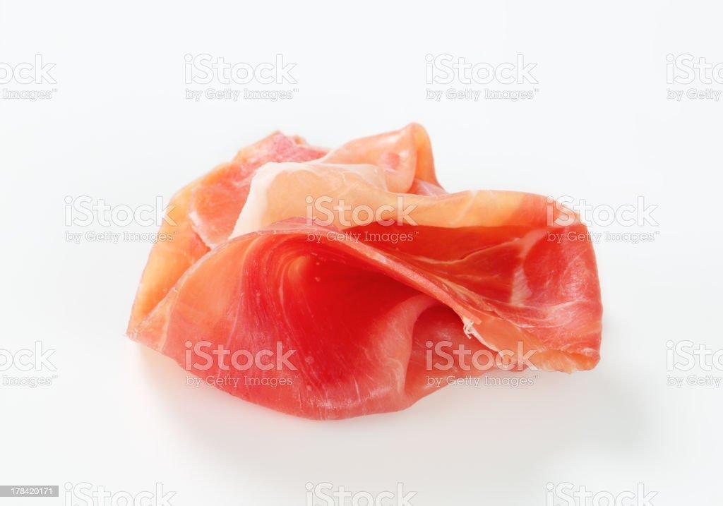 Dry-cured ham stock photo