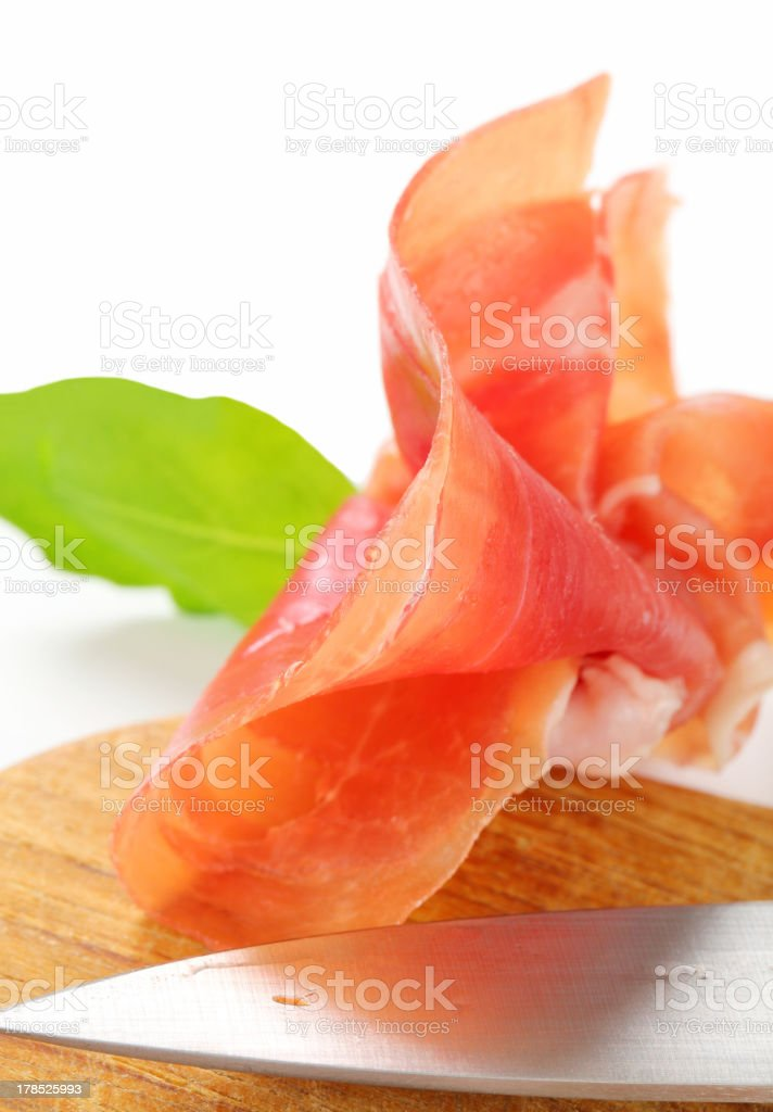 Dry-cured ham stock photo