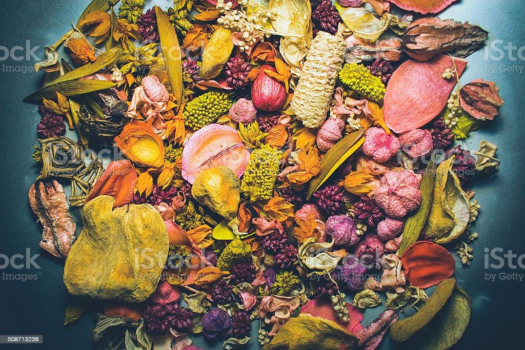 Dryed flowers stock photo