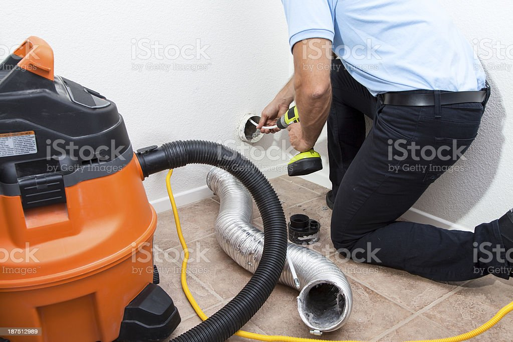 Dryer Vent Cleaning stock photo
