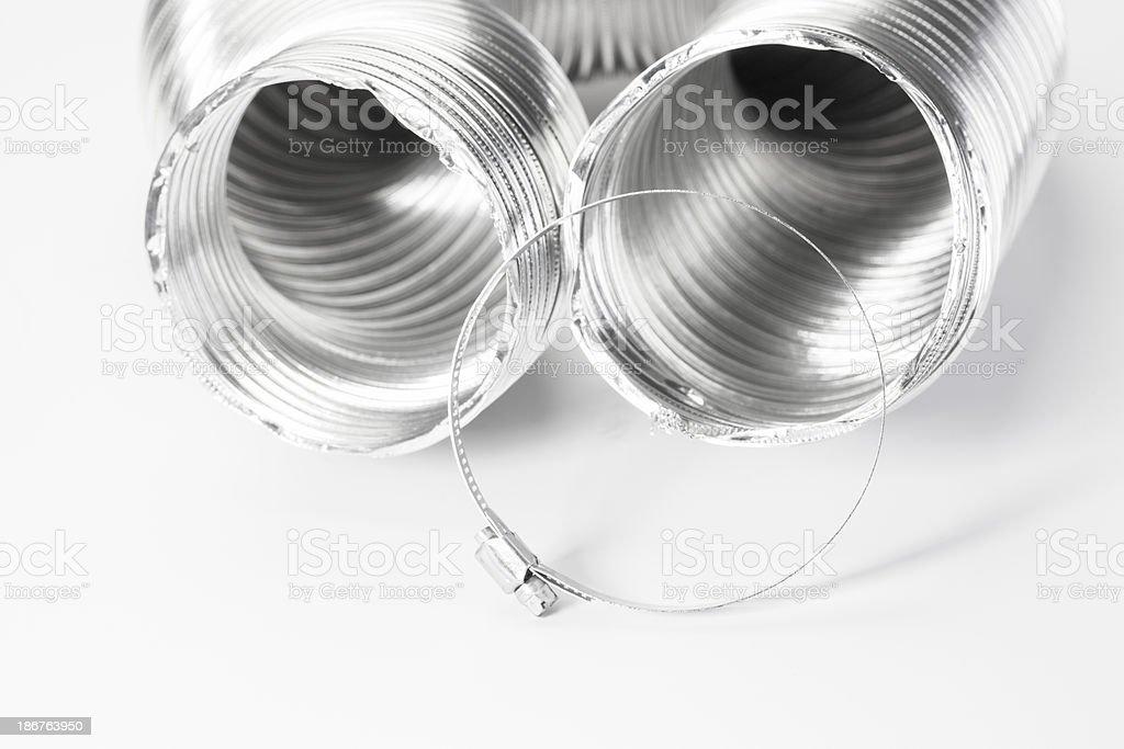 Dryer Vent Tube stock photo