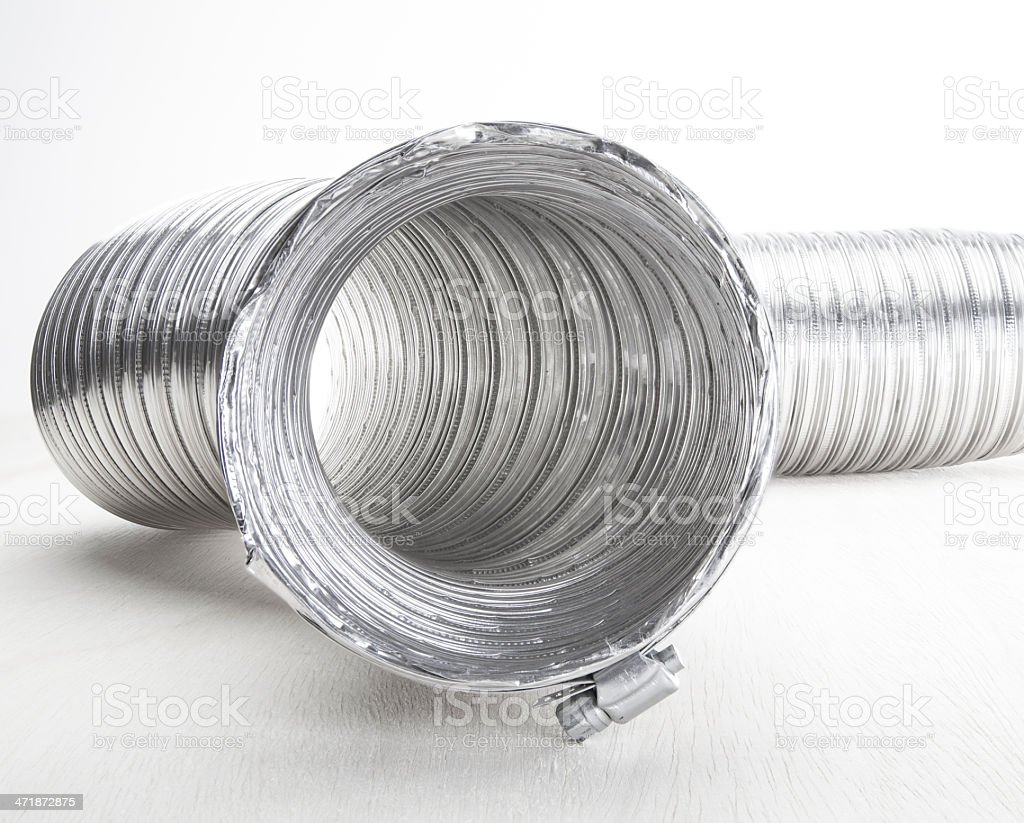 Dryer Vent Tube stock photo