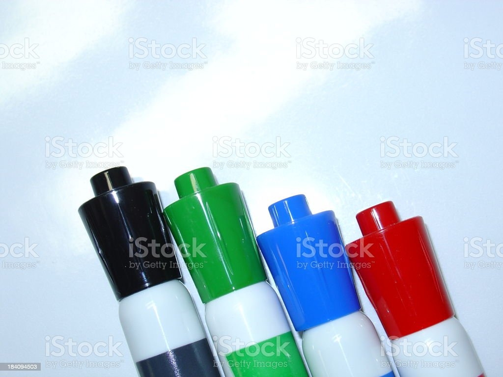 dry-erase markers royalty-free stock photo