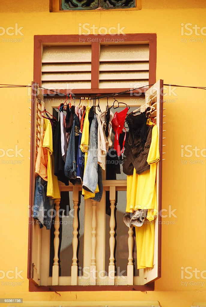 Drying Clothes stock photo