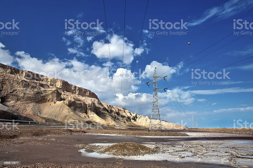 Drying Dead Sea. royalty-free stock photo