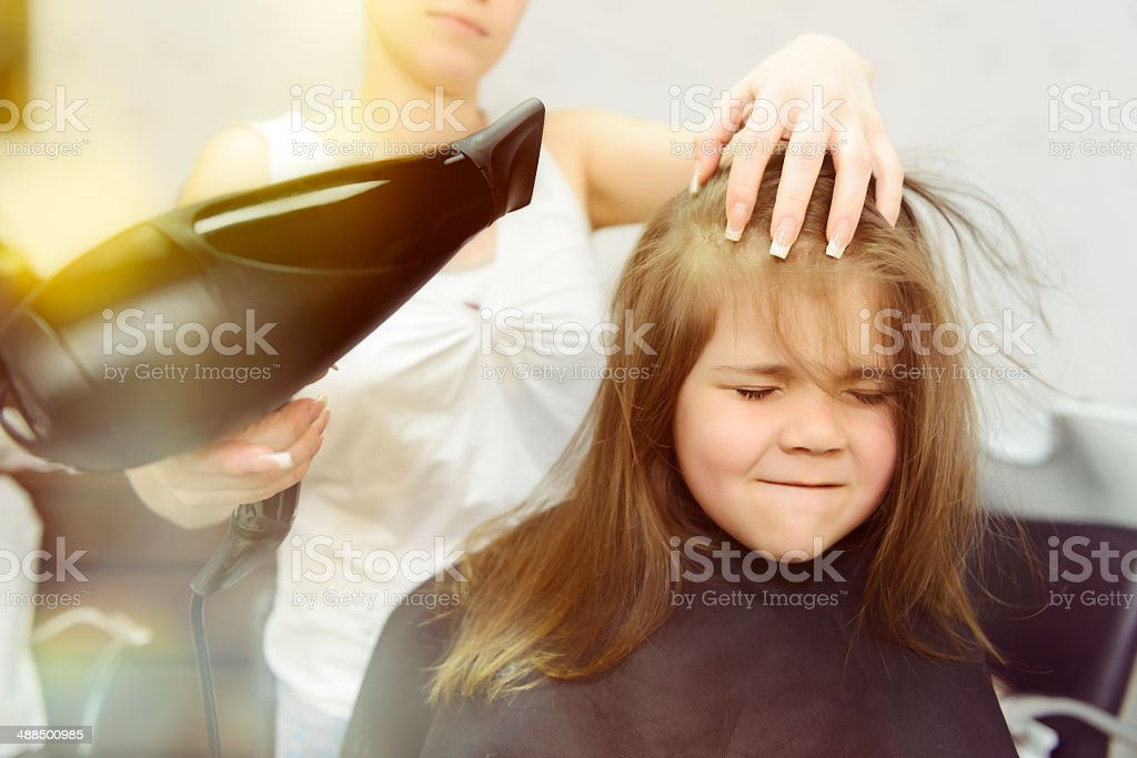 drying hair royalty-free stock photo