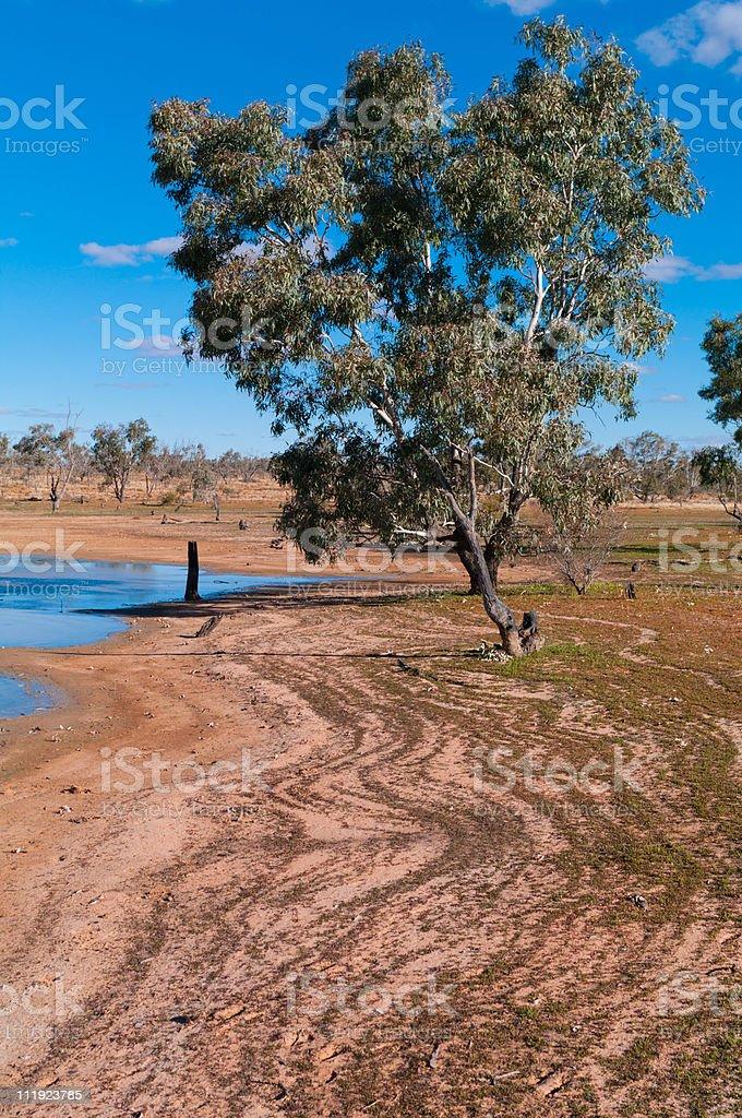 Drying lake stock photo
