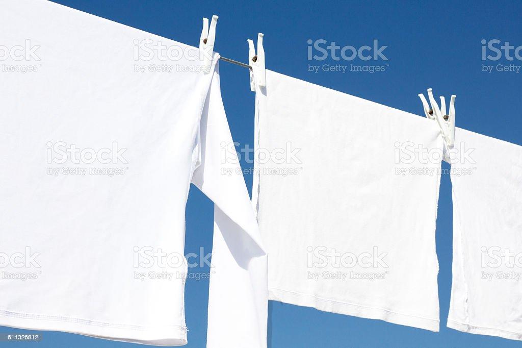 Drying Laundry stock photo