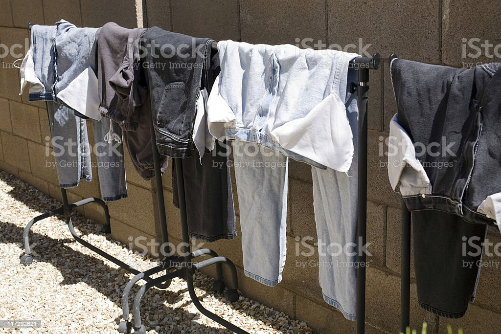 Drying Old Way stock photo