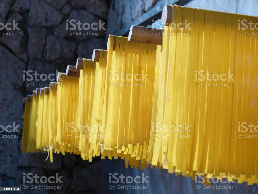 Drying Pasta stock photo