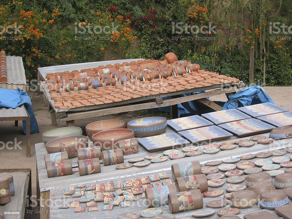 Drying Pottery royalty-free stock photo