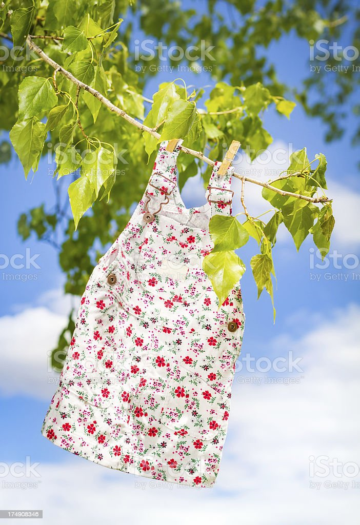 Drying the laundry royalty-free stock photo