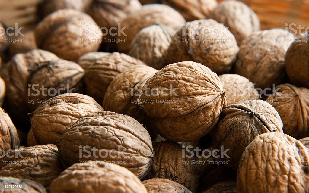 Drying walnuts royalty-free stock photo