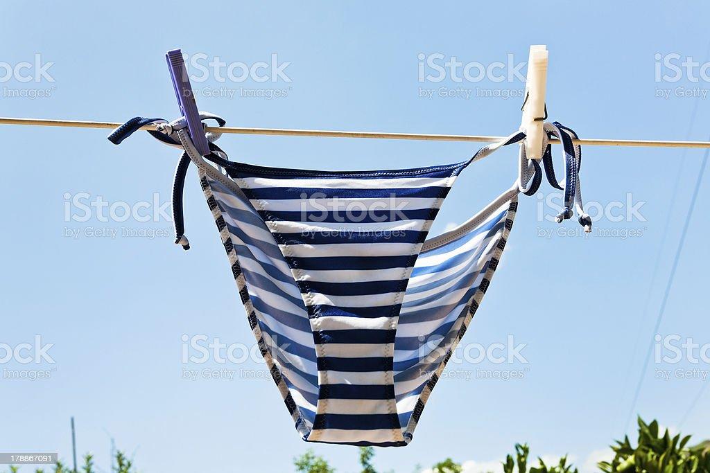 drying woman swimming pantie royalty-free stock photo